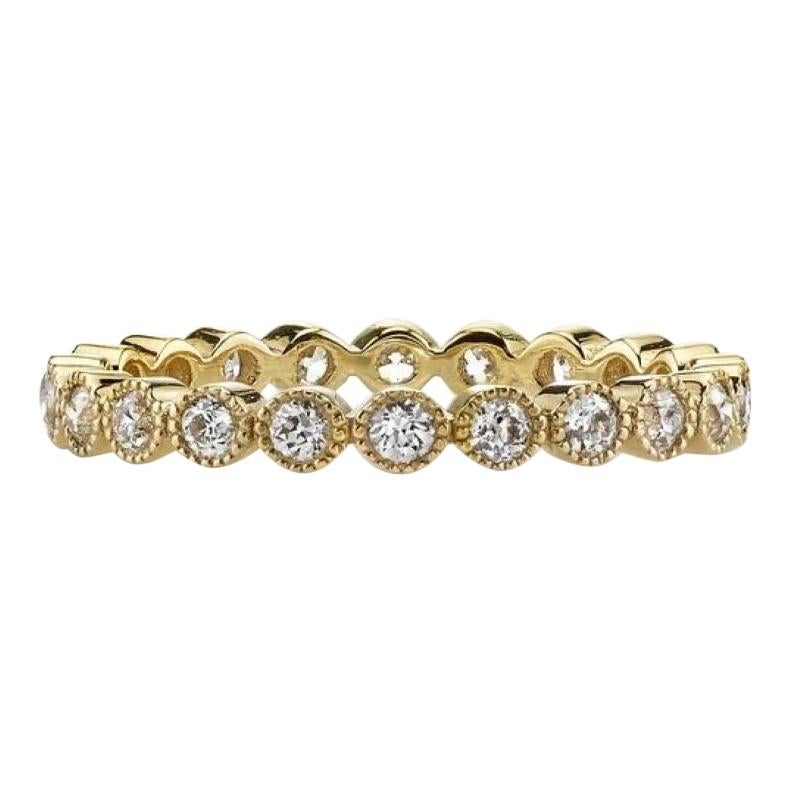0.70 Carat Old European Cut Diamonds Set in a Handcrafted Gold Eternity Band