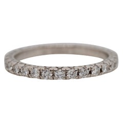 Vintage Old European Cut Diamond Eternity Platinum Band