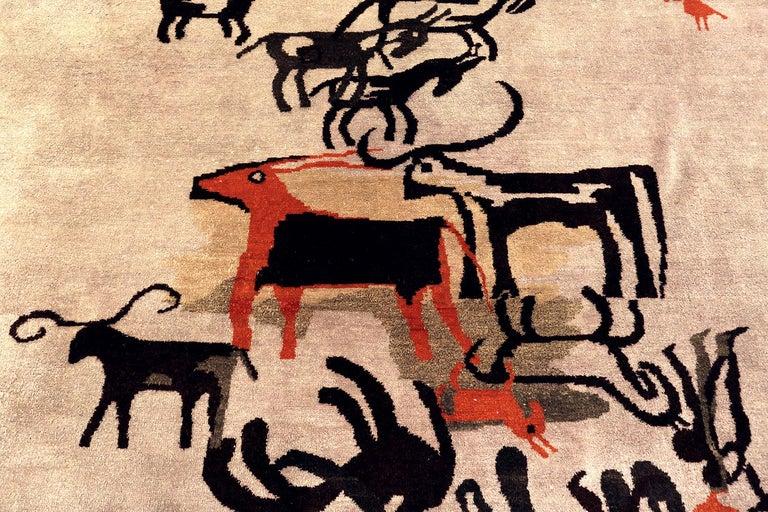 Stunning vintage Ecuadorian rug by Olga Fisch, origin: Ecuador, circa mid-20th century.