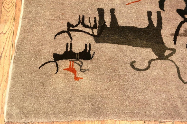 Hand-Knotted Vintage Olga Fisch Ecadorian Rug 70385 For Sale