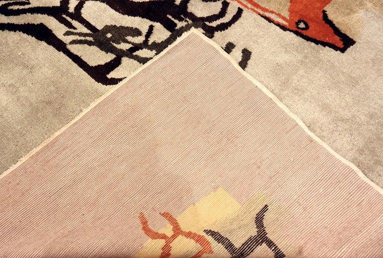 Wool Vintage Olga Fisch Ecadorian Rug 70385 For Sale