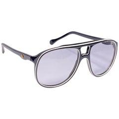 Vintage Oliver Goldsmith Black Oversized Ray 5721 Made in England Sunglasses