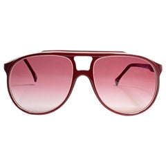 Vintage Oliver Goldsmith Burgundy Oversized Ray 5721 Made in England Sunglasses