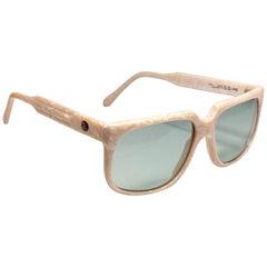 "Vintage Oliver Goldsmith "" Conference "" White Frame 1970 England Sunglasses"