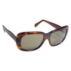 Vintage Oliver Goldsmith Dark Tortoise Oversized 1970 Made in England Sunglasses