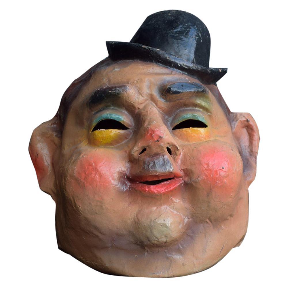 Vintage Oliver Hardy Theatre Papier Mâché Head / Mask