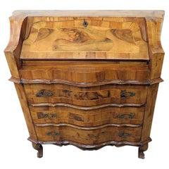 Vintage Olivewood Secretary Desk