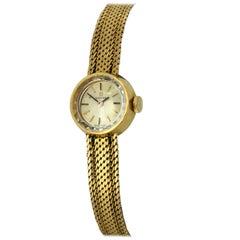 Vintage Omega 1960s Ladies Full 18 Karat Gold