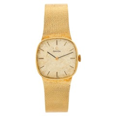 Vintage Omega Automatic 14k Yellow Gold Men's  Dress Watch