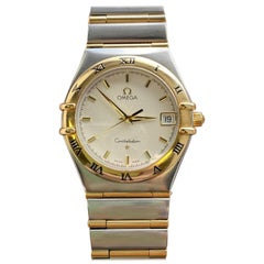 Vintage Omega Constellation Full Bar Quartz Date