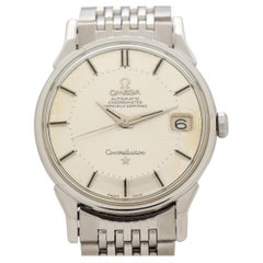 Vintage Omega Constellation with Pie Pan Dial Stainless Steel Watch, 1966