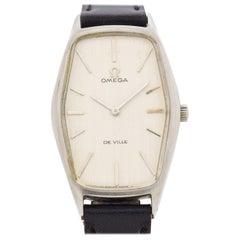 Vintage Omega Deville sechseckigen Uhr aus Edelstahl, 1969
