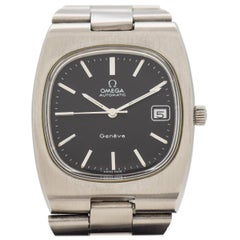 Vintage Omega Geneve Cushion-Shaped Stainless Steel Watch, 1973