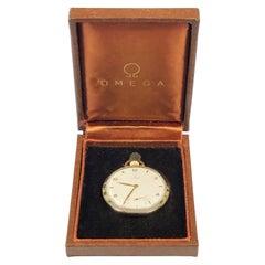 Vintage Omega Gold Filled Pocket Watch in Original Box