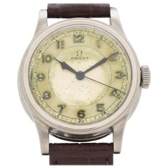 Vintage Omega Military-Style Stainless Steel Watch, 1938