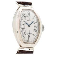 Vintage Omega Oversized Tonneau-Shaped Watch, 1937