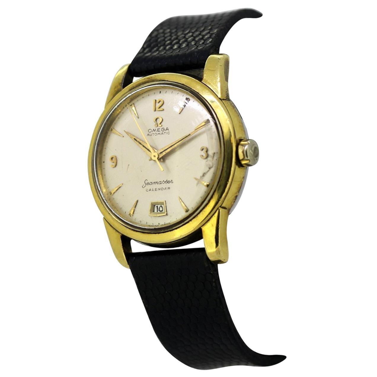 Vintage Omega Seamaster Calendar Automatic Men's Wristwatch, circa 1960s
