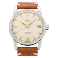 Vintage Omega Seamaster Calendar Stainless Steel Watch, 1957