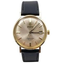 Vintage Omega Seamaster De Ville Automatic 14 Karat Solid Gold Leather Band