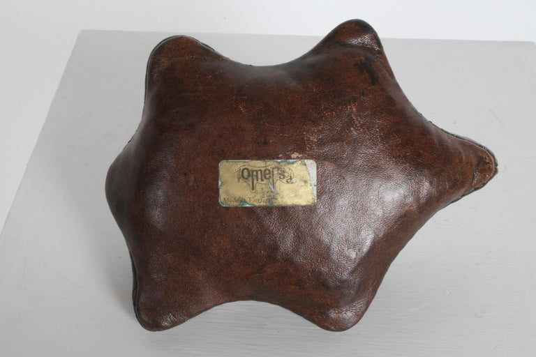 Vintage Omersa Leather Turtle Use as Paperweight or Decorative, Retains Label For Sale 4