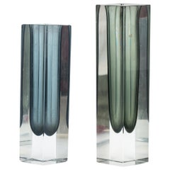 Vintage One Flower Vases, Italy, 1970s