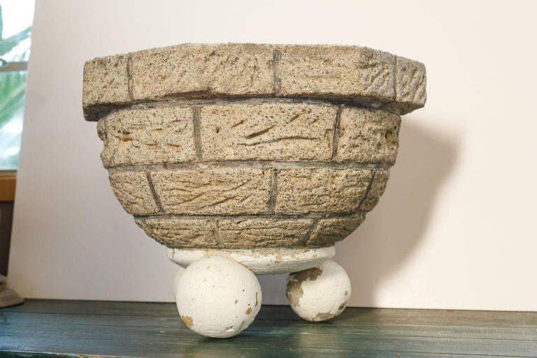 Vintage One-of-a-Kind Cast Planter In Good Condition For Sale In Houston, TX