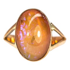 Vintage Opal and 9 Carat Gold Ring
