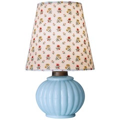 Vintage Opaline Table Lamp