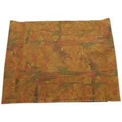 Vintage Orange and Green Obi Textile