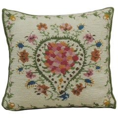 Vintage Orange and Green Petite Square Tapestry Decorative Pillow