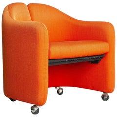 Vintage Orange Armchair, Italy, 1980s