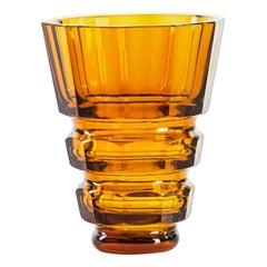 Vintage Orange Decorative Glass Vase, Northern Europe, 1970s