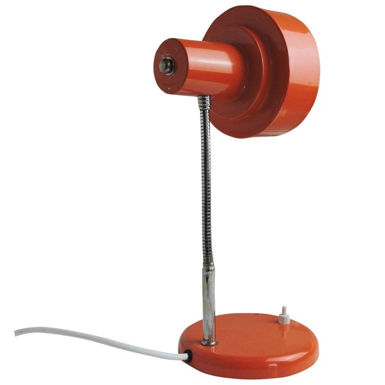Vintage Orange Desk Lamp, 1970s For Sale