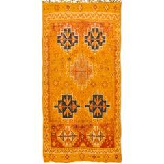 Vintage Orange Geometric Moroccan Rug
