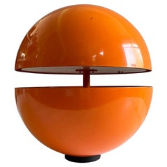 Vintage Orange Globe Table Lamp by Andrea Modica for Lumess, 1980s