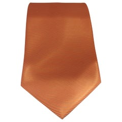 Vintage orange silk tie