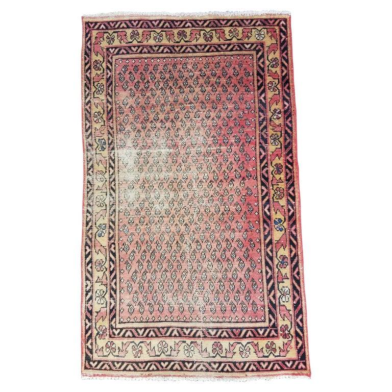 Vintage Oriental Area Rug, Pakistan Sar 11 For Sale At 1stdibs