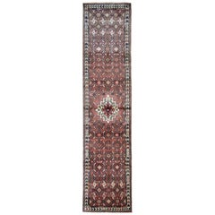 Vintage Oriental Carpet Runner Rug, Handmade Wool Hallway Runner Rug
