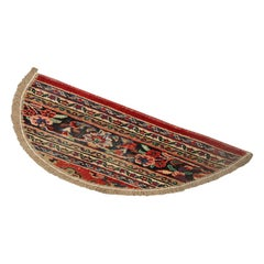 Vintage Oriental Rug Door Mat, Handmade Carpet Refurbished Rug Mat, Entrance Mat