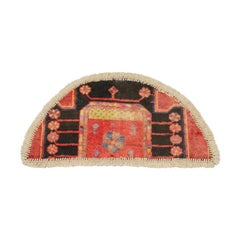 Vintage Oriental Rug Door Mat- Handmade Carpet Rug Mat- Entrance way Mat