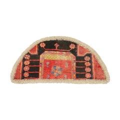 Vintage Oriental Rug Door Mat- Handmade Carpet Rug Mat- Entrance way Mat