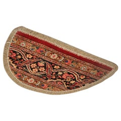 Vintage Oriental Rug Door Mat, Refurbished Handmade Carpet Mat, Entrance Way Mat