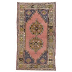 Vintage Oriental Rug for Country Homes, Rustic, Tribal, Traditional Interiors