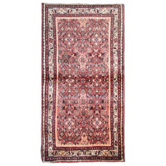Vintage Oriental Rug Tribal Carpet Red Wool Area Rug