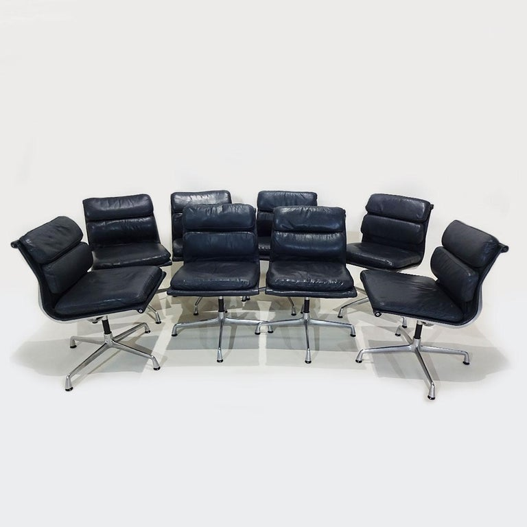 Vintage Original Eames Boardroom Table and Chair Set by Vitra and Herman Miller For Sale 3