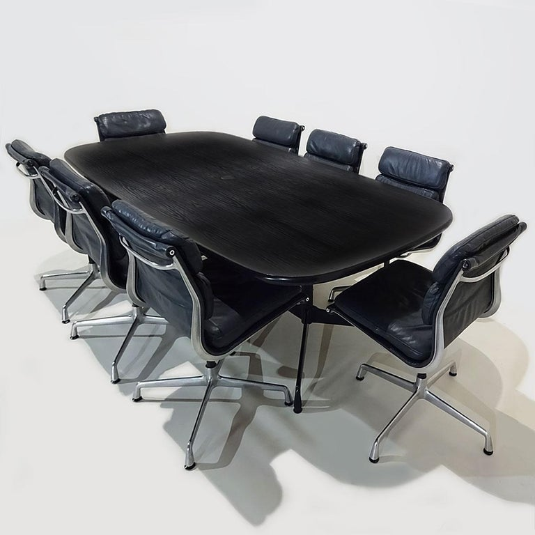 Mid-Century Modern Vintage Original Eames Boardroom Table and Chair Set by Vitra and Herman Miller For Sale