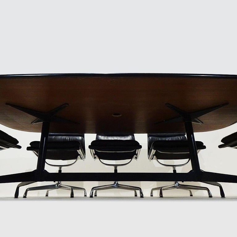 Aluminum Vintage Original Eames Boardroom Table and Chair Set by Vitra and Herman Miller For Sale