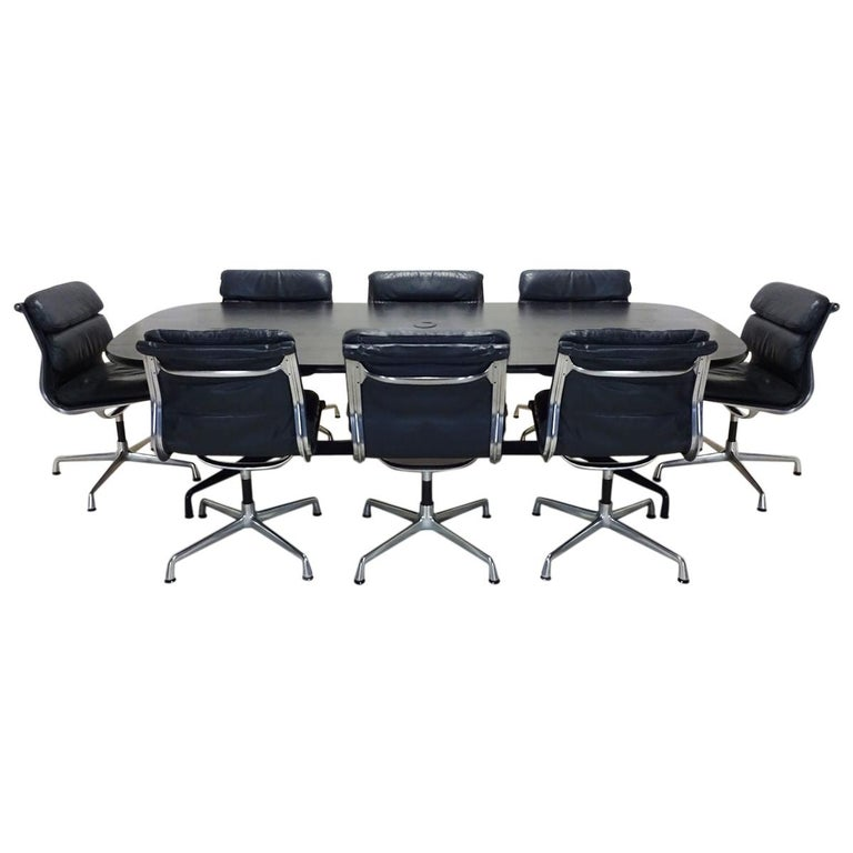 Vintage Original Eames Boardroom Table and Chair Set by Vitra and Herman Miller For Sale