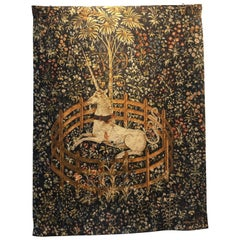 Vintage Original French Aubusson Tapestry the Unicorn Captives Numbered