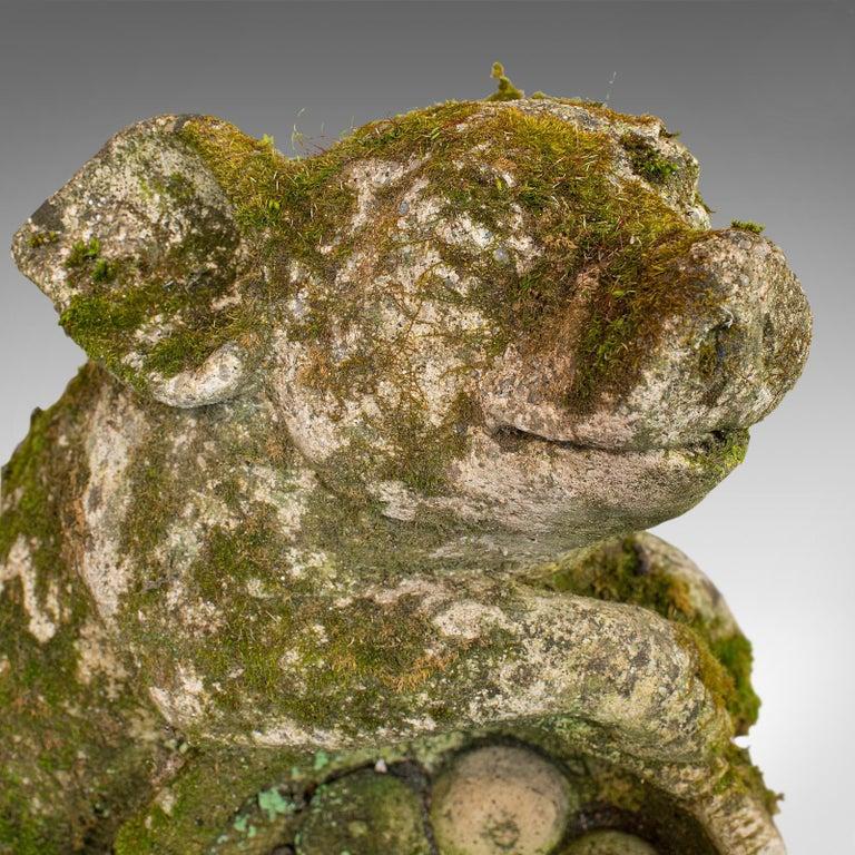 Vintage, Ornamental Pigs, English, Stone, Porcine, Garden Statuettes, circa 1960 For Sale 3